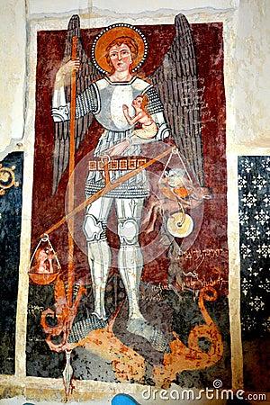 Free Icon In The Old Fortified Church Dirjiu, Transylvania, Romania Stock Photo - 77410530