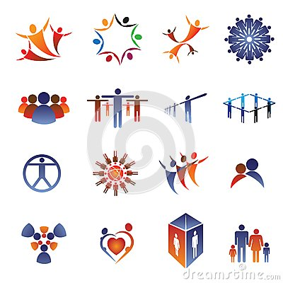 Icon & logo set-business people,family,team