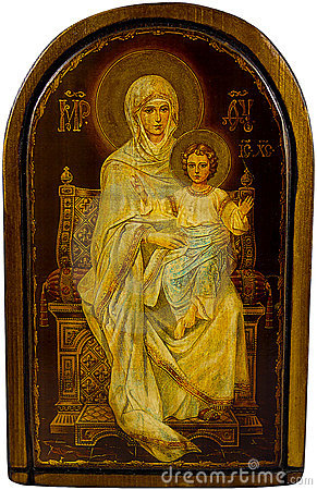 Icon Mary and Christ