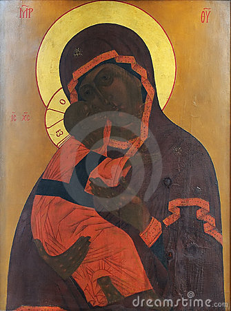 Icon of Mother of God and child (Jesus Christ)