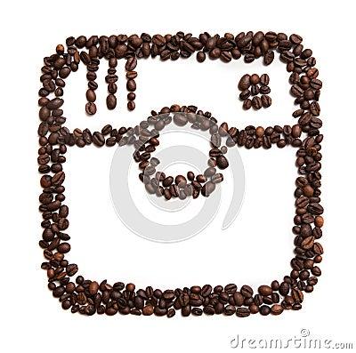 Free Icon Of Instagram On White Background Stock Image - 97239411