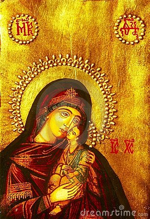 Free Icon Of Mary And Baby Jesus Stock Photos - 3260263