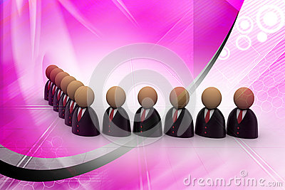 Icon of peoples in business suit