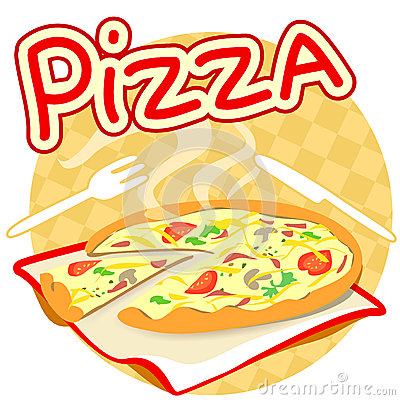 Icon with pizza