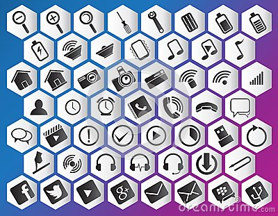 Icon purple pack Editorial Stock Image