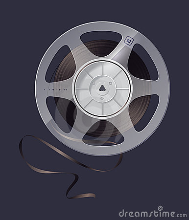 Icon reel of magnetic tape recording.