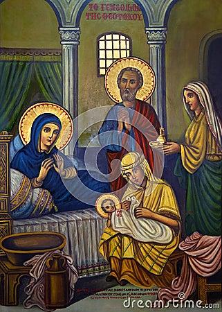 Icon - Religious Painting - Turkish Cyprus Editorial Image