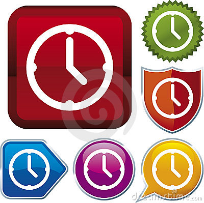 Icon series: clock (vector)