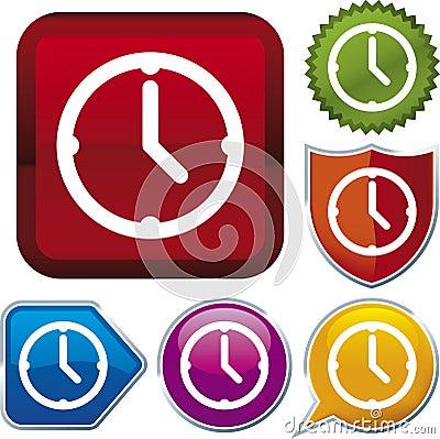 Icon series: clock (vector)