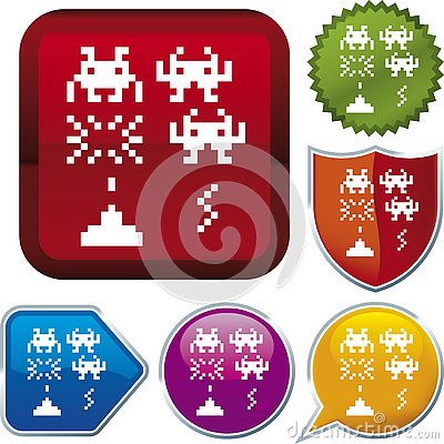 Icon series: computer game