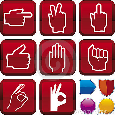 Free Icon Series: Gesture Hands Stock Image - 7062691