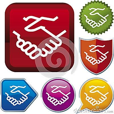 Icon series: handshake (vector)