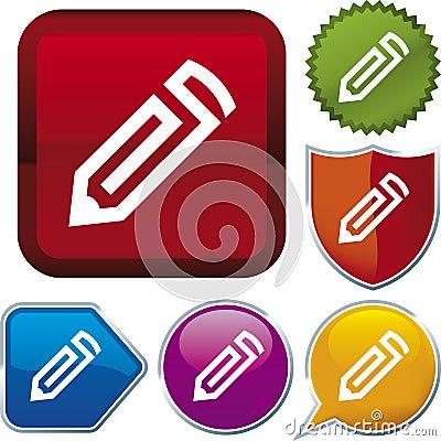 Icon series: pencil (vector)