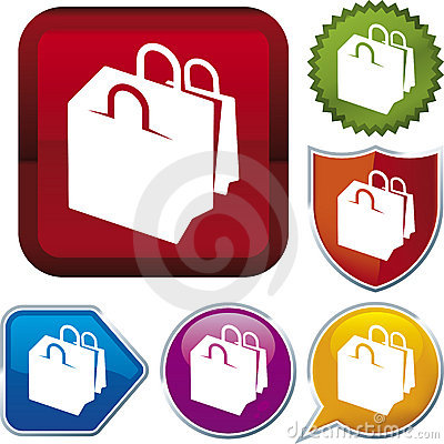Free Icon Series: Shopping Bags Royalty Free Stock Images - 4766169