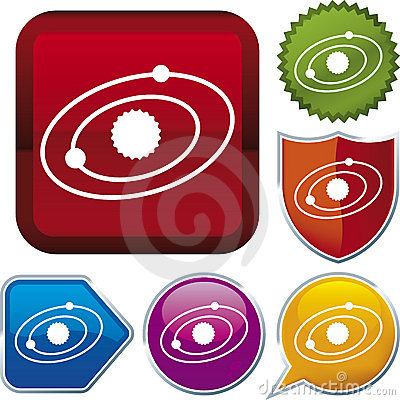 Icon series: solar system (vec