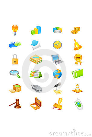 Free Icon Set Stock Photo - 10440310