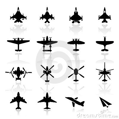 Free Icon Set Airplanes Royalty Free Stock Photography - 19304917