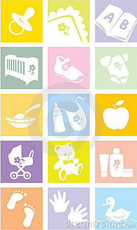 Free Icon Set - Baby Goods, Items Stock Images - 7493364