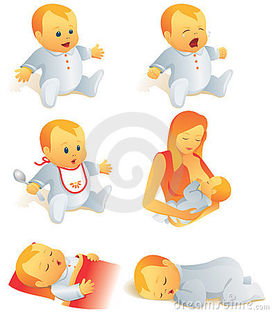 Free Icon Set - Baby Life Scenes. I Royalty Free Stock Photo - 5188435