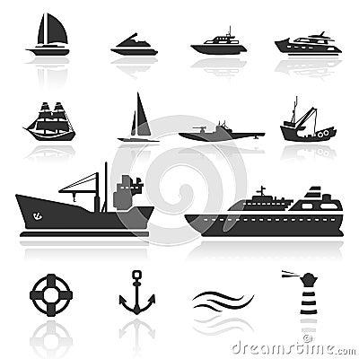 Free Icon Set Boats Royalty Free Stock Photo - 18494215