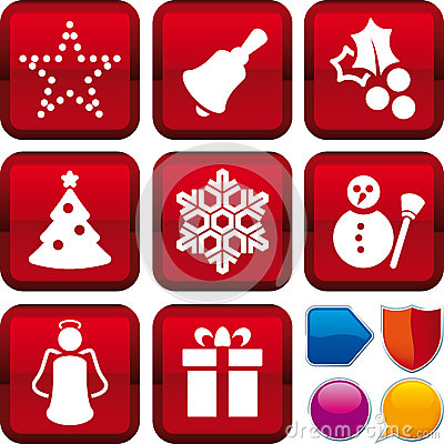 Icon set christmas
