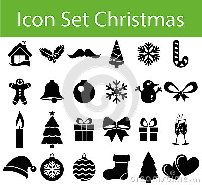 Free Icon Set Christmas Stock Photography - 59212822