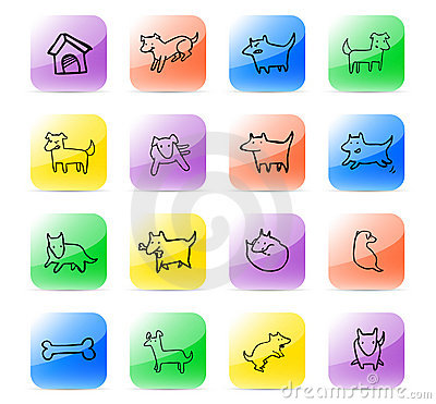 Icon set dog