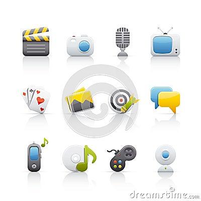 Free Icon Set - Entertainment Stock Photo - 10347290