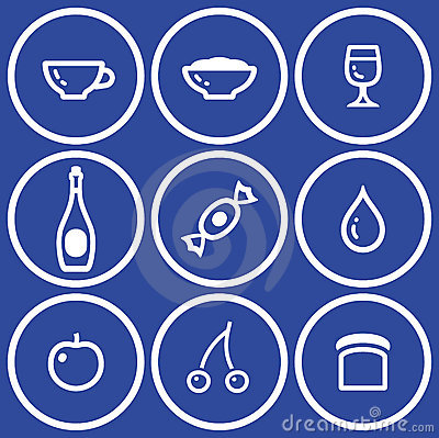 Icon set– food and drink (Vector)