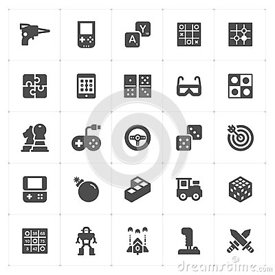Free Icon Set - Game And Toy Filled Icon Style Vector Stock Photos - 120489283