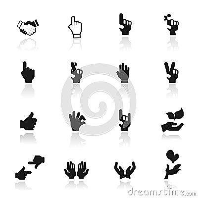 Icon set  hands