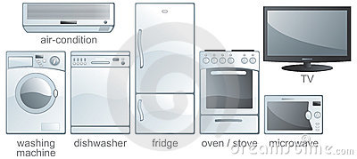 Icon set - home equipment