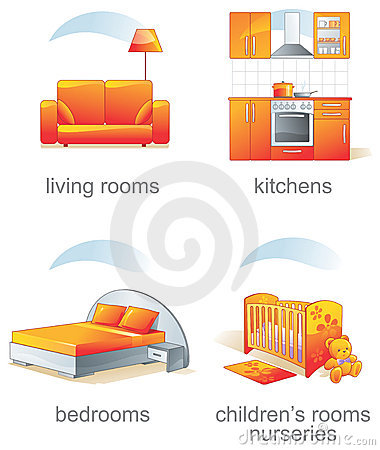 Free Icon Set - Home Furniture Item Royalty Free Stock Photography - 3995437