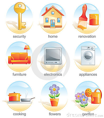 Free Icon Set - Home Related Items. Stock Image - 2372281