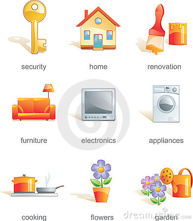 Free Icon Set, Home Related Items Stock Photography - 4957592