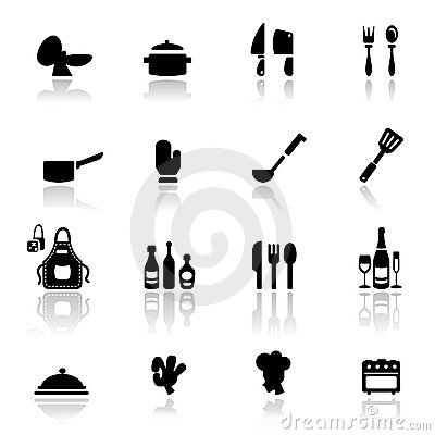 Icon set  Kitchen tools