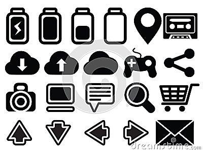Icon set media computer