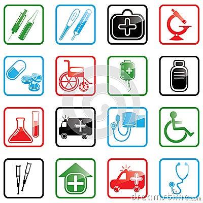 Free Icon Set Medicine Stock Image - 5629711