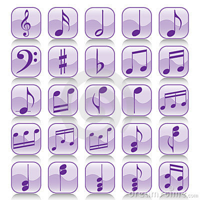 Icon set-Music notes