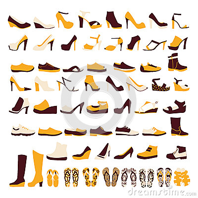 Free Icon Set Of Men S  And Of Women S Shoes Stock Photography - 40551022