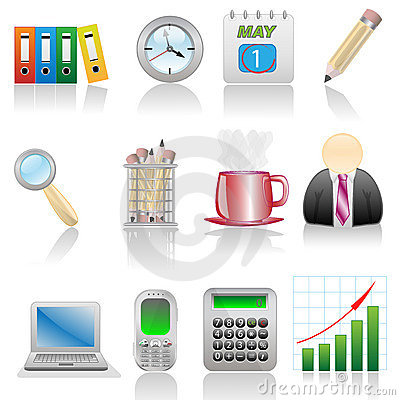 Free Icon Set-Office Royalty Free Stock Photography - 11334607