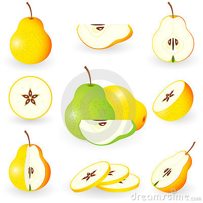 Free Icon Set Pear Royalty Free Stock Photography - 20662327