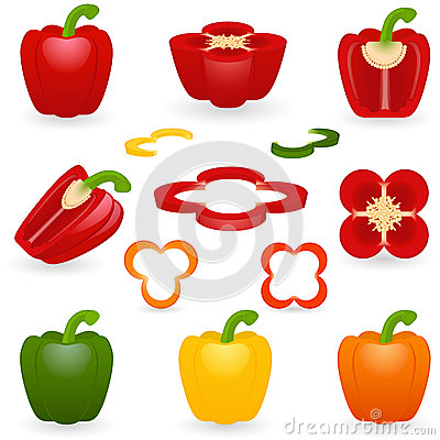 Free Icon Set Pepper Royalty Free Stock Images - 32637029