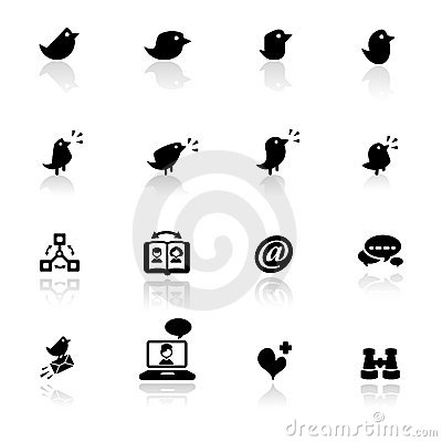 Icon set  Social networks