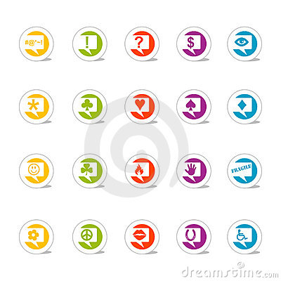 Icon Set Talk Bubbles (Vector