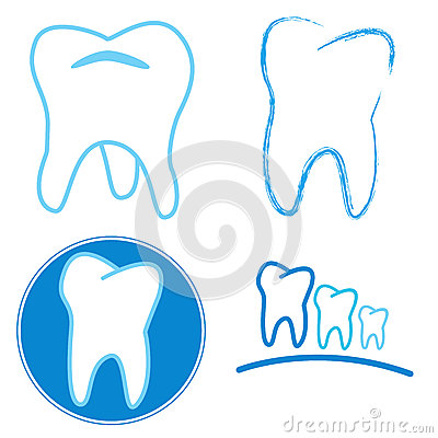 Icon set of teeth