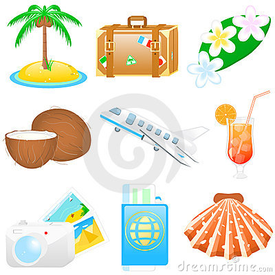 Icon set Vacations