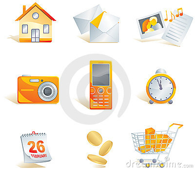 Icon set. Web, commerce, media