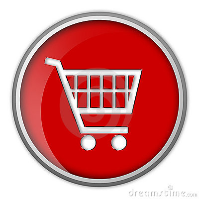 Icon, shopping cart, button