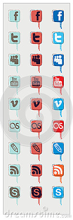 Icon of social networks Editorial Photography